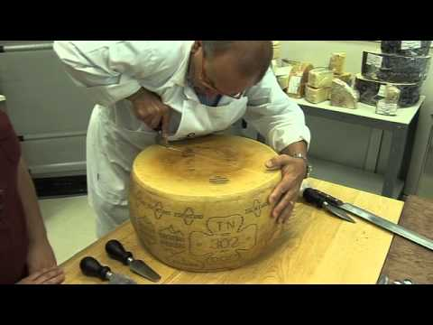 Cheese Expert Carlo Guffanti Demonstrates How to Properly Break Open a Wheel of Parmesan Cheese
