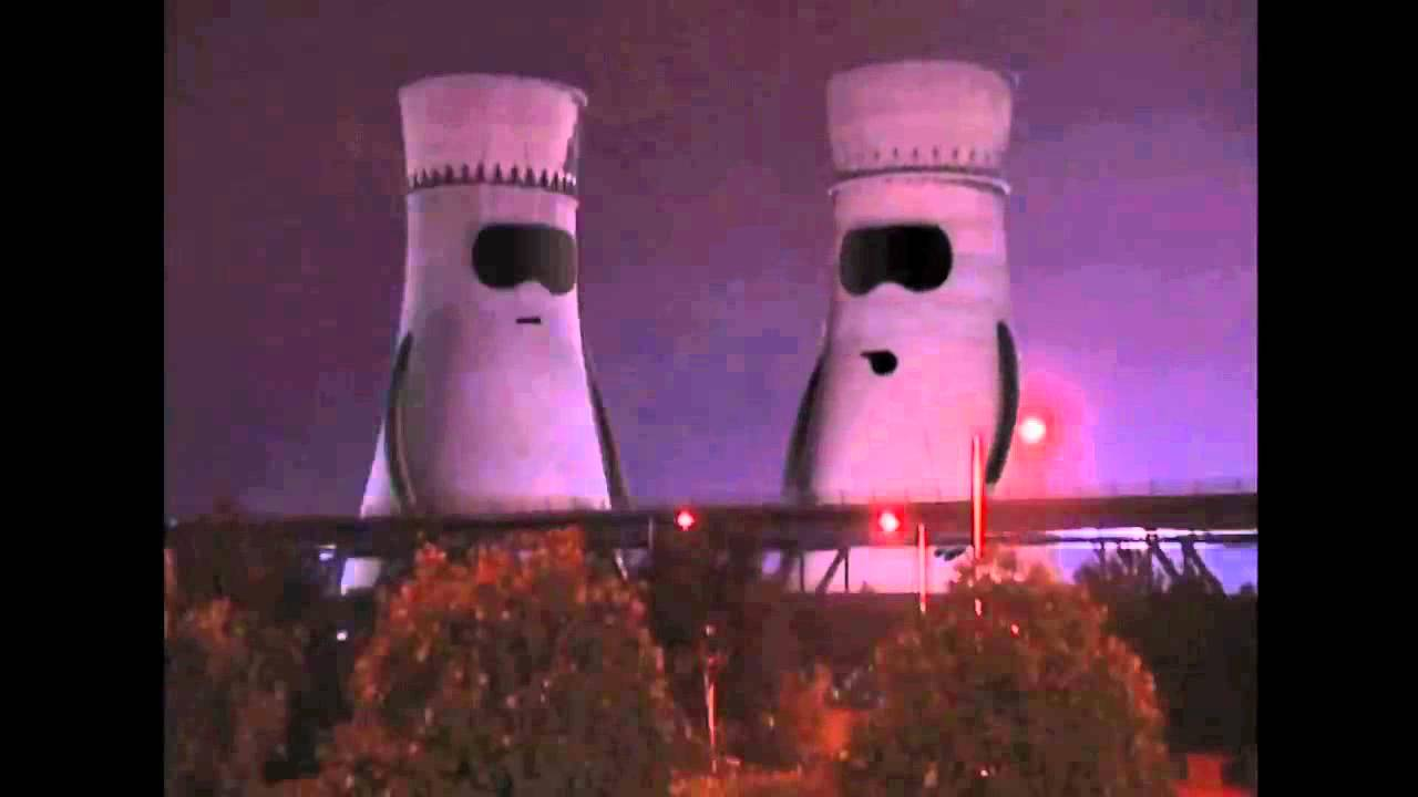Collapsing Cooling Towers Humanlike Towers Surprised At
