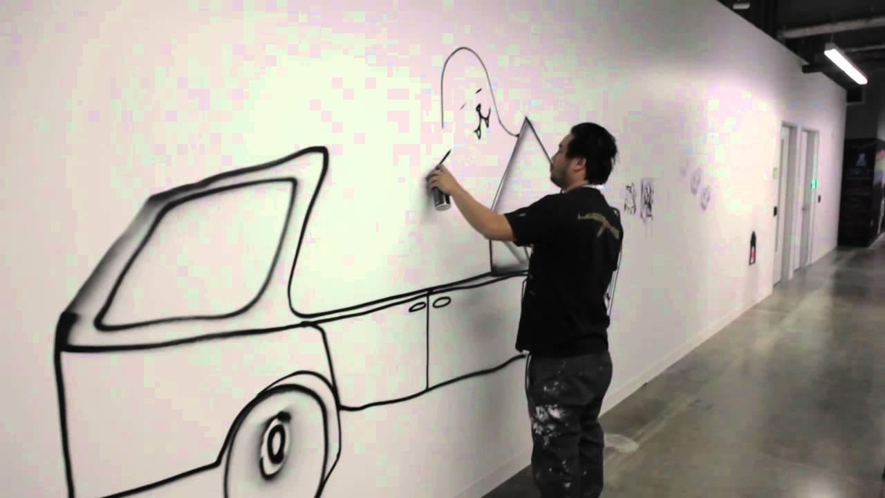 David Choe Facebook Office Mural