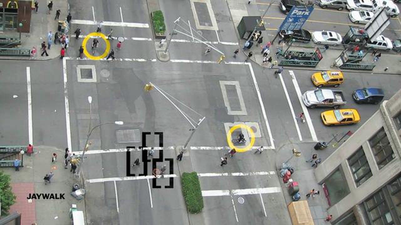 Documenting Traffic Mayhem in a Manhattan Street IntersectionOne Way Street Intersection