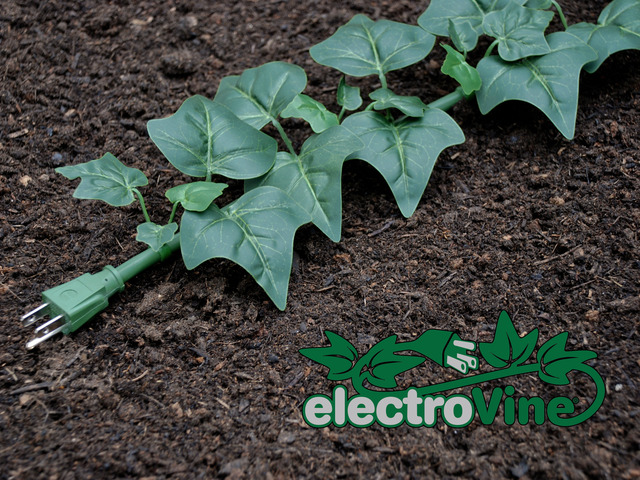 ElectroVine, A Six-Foot Extension Cord Disguised as an Ivy Plant