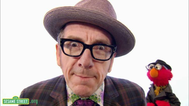 Elvis Costello Sings Monster Went and Ate My Red 2 on Sesame Street