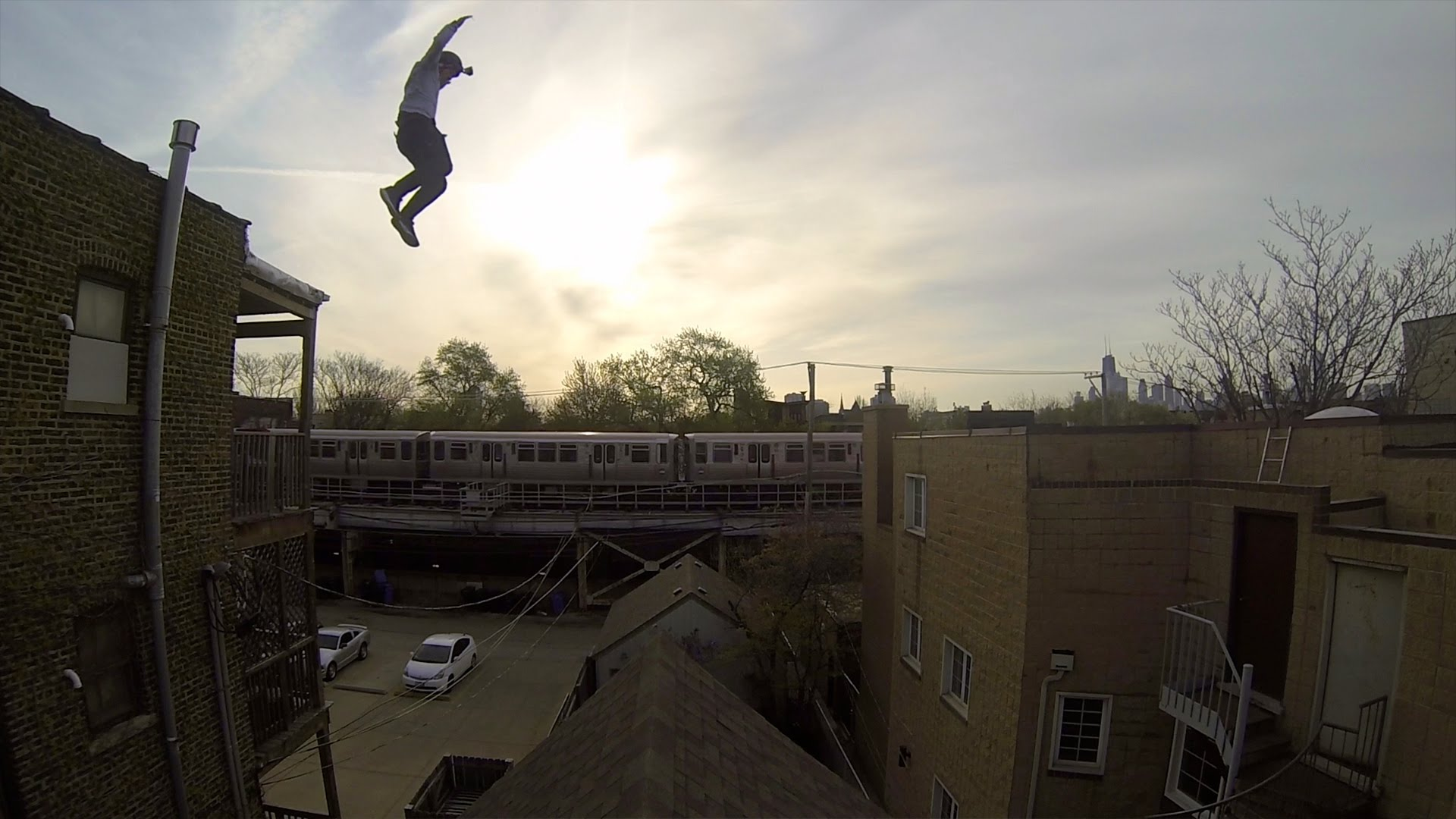 First Person Gopro Video Of A Stuntman Jumping Onto And