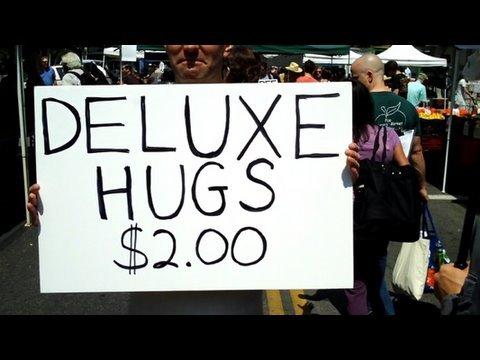 Free Hugs Prank: Deluxe Hugs $2.00