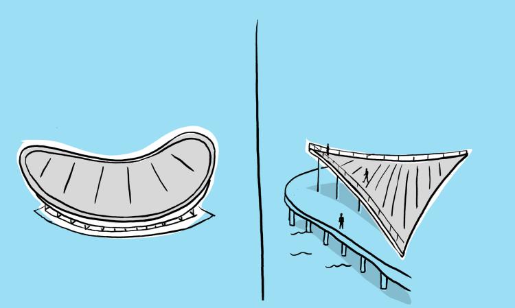 Gastro-Architecture by Nicholas Blechman