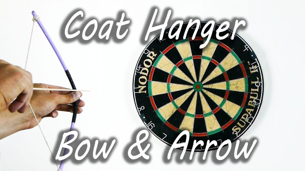 How to Make a Bow and Arrow Out of a Plastic Coat Hanger and Other Household Objects