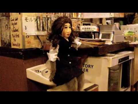 Japanese Restaurant Employs Masked Monkey Waiters