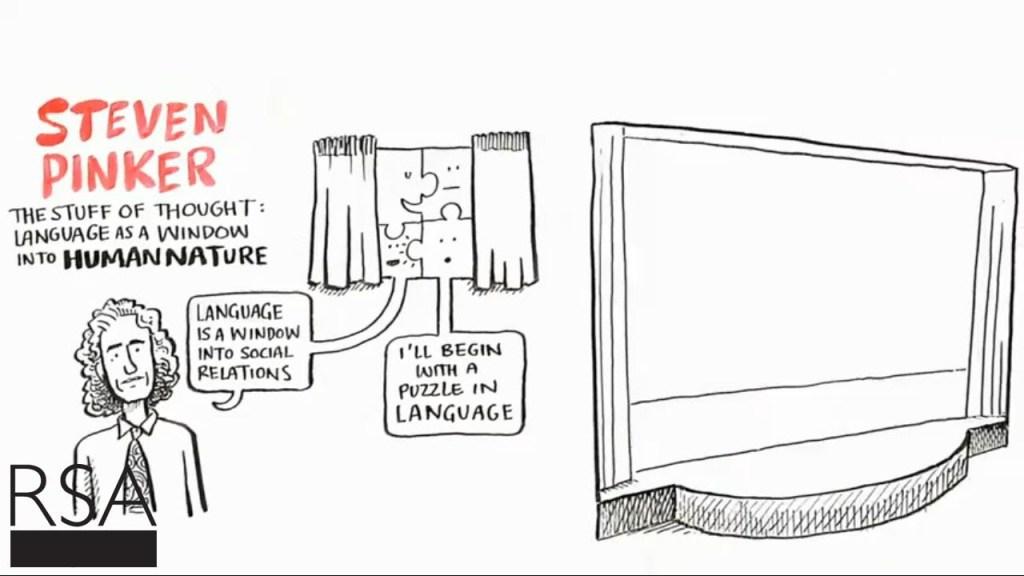 Language as a Window into Human Nature on RSA Animate