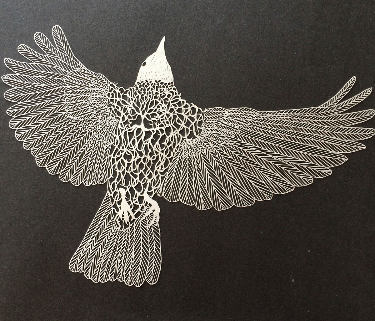 Astonishingly delicate cut paper art by maude white