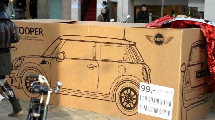 MINI Cooper Shipping Boxes in Amsterdam