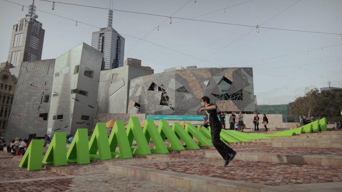 M 214 Bius An Optical Illusion Interactive Public Sculpture
