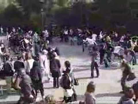 Ninja Battle Flash Mob in Berkeley