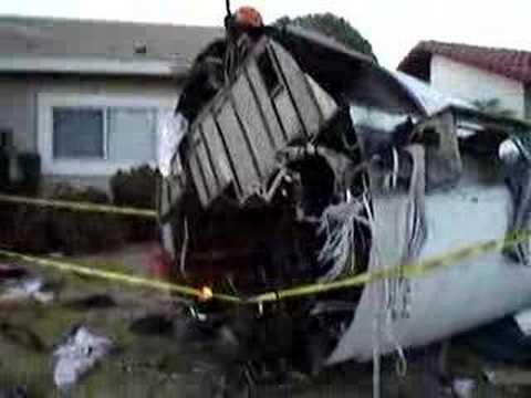 Plane Crash Halloween Display