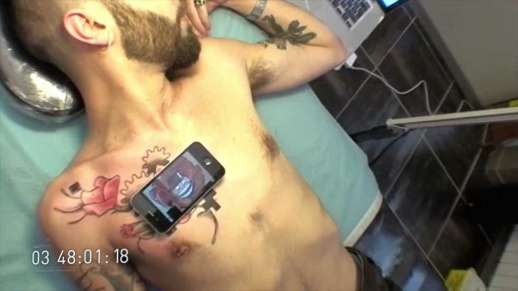 QR Code-Enabled Animated Tattoo