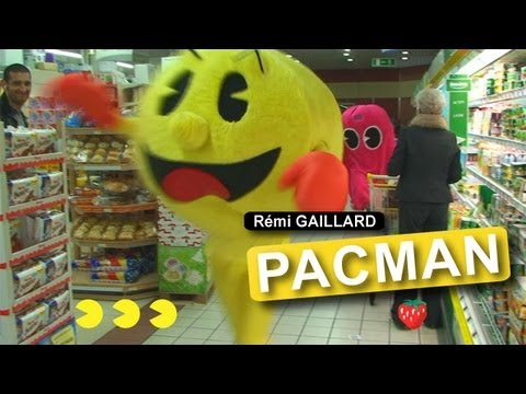 Real Life Pac-Man Wreaks Havoc in French Supermarket