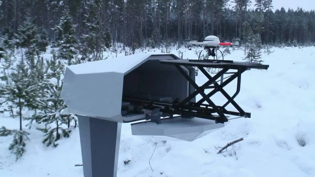 Scancam 200 Perimeter Security Drone Launches From A Mailbox