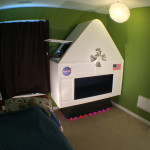 Dad Builds Awesome Interactive Spaceship for His Four-Year-Old Son's Bedroom