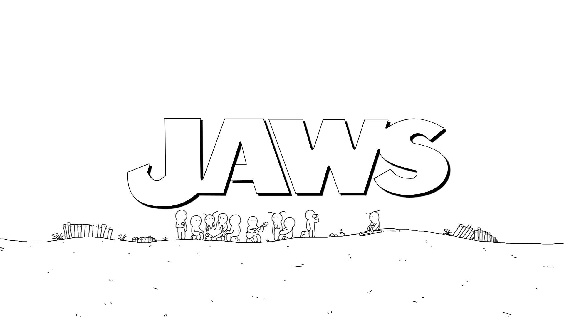 Steven Spielberg's 1975 Thriller Film 'Jaws' Condensed Into a One-Minute Animated Speedrun