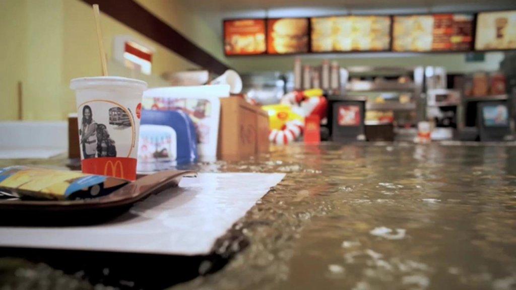 Superflex Floods A Life-Size Replica of McDonald's