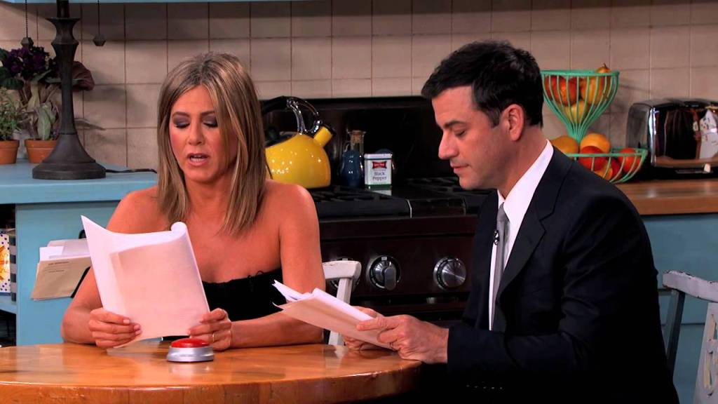 The Cast of 'Friends' Reunites on 'Jimmy Kimmel Live' to Act Out His 'Friends' Fan Fiction