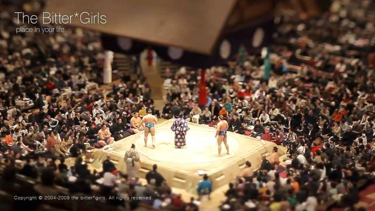 Tilt-Shift Time-Lapse Video of Sumo Wresting