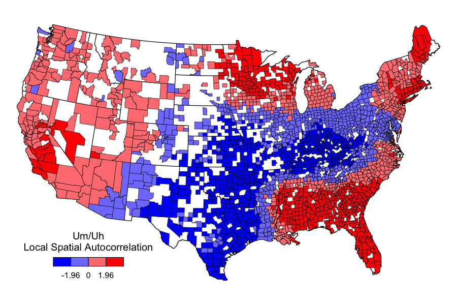 A Map Comparing The Use Of Um Versus Uh In The United States - Us geographical map