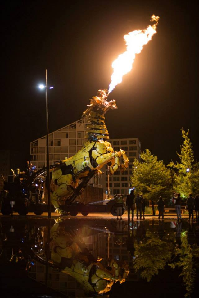 A Massive Fire-Breathing Kinetic Sculpture of a Horse-Dragon
