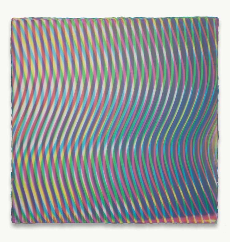 Moire Pattern Paintings by Anoka Faruqee