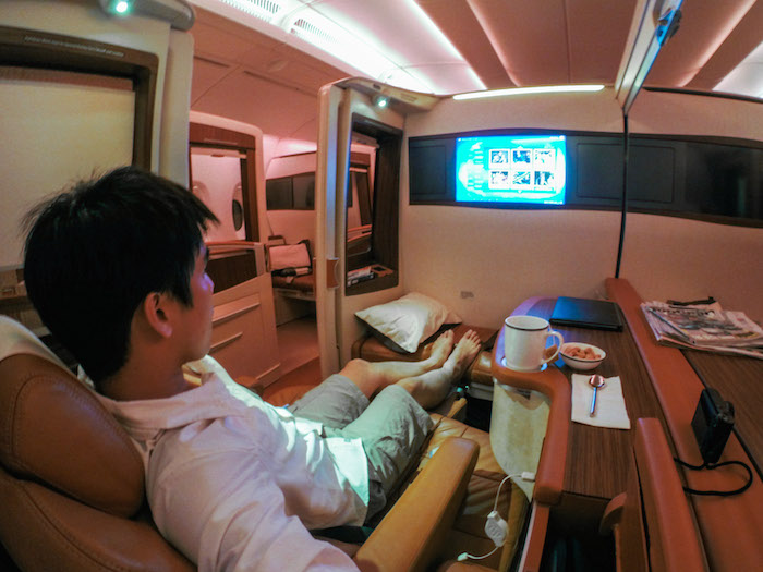 Flying in Singapore Airlines Suites Class