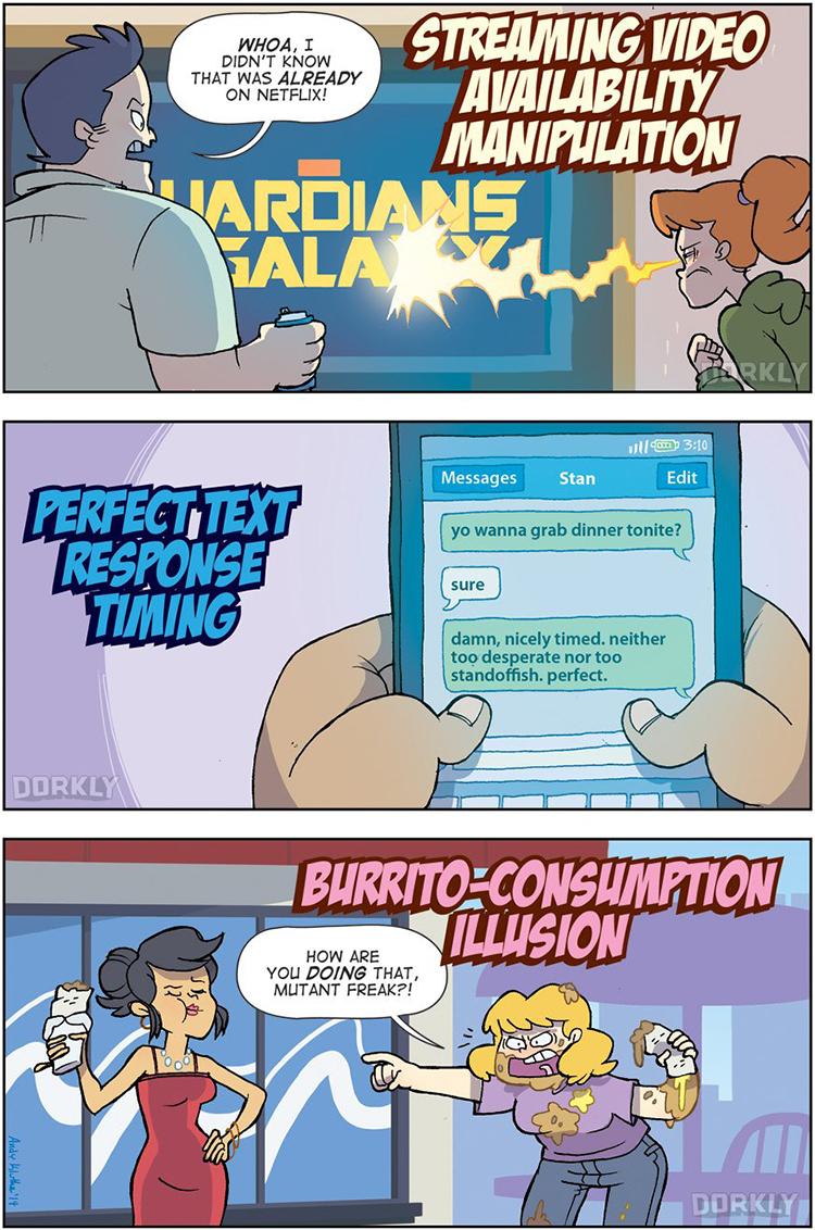 Mildly Convenient Mutant Powers