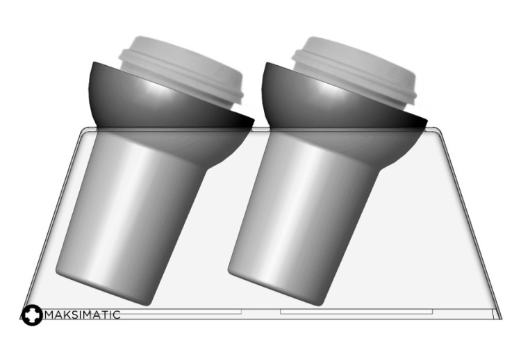 Maksimatic Self-Leveling Cup Holder