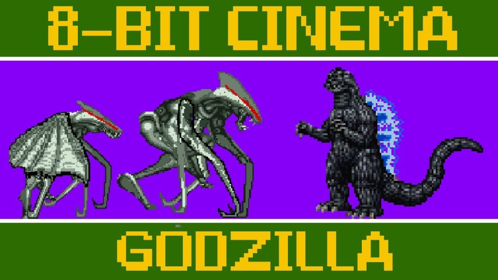 8 Bit Cinema – 'Godzilla' (2014) Retold as an 8-Bit Animated Video Game