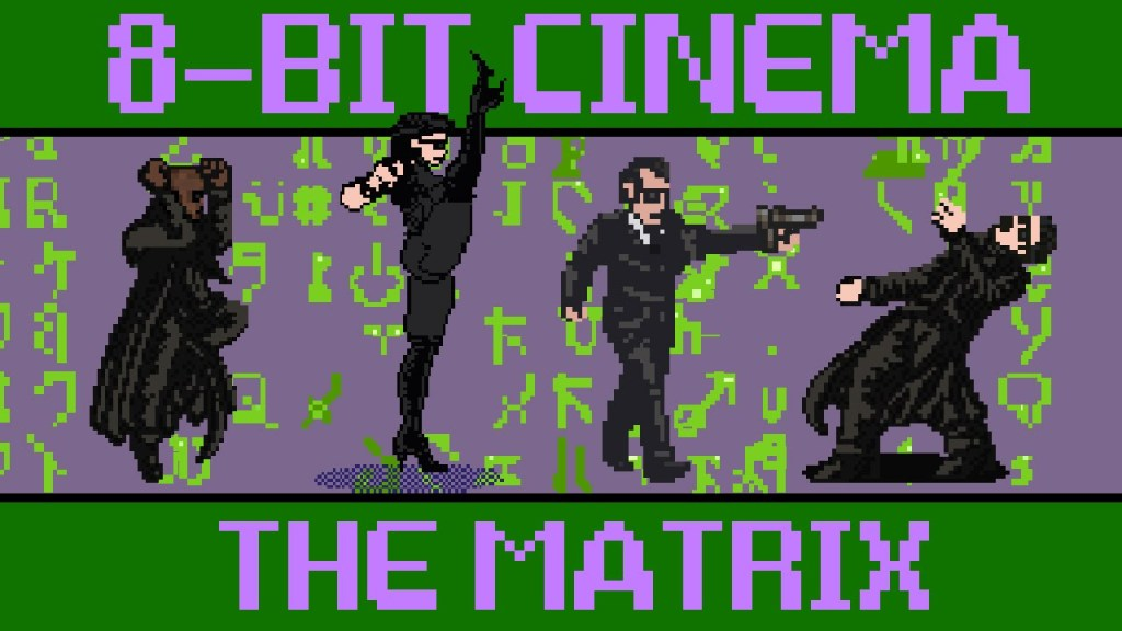 The 1999 Film 'The Matrix' Retold as an 8-Bit Animated Video Game