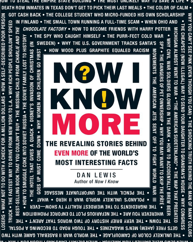 'Now I Know More', A New Book of Facts and Their Stories by Dan Lewis