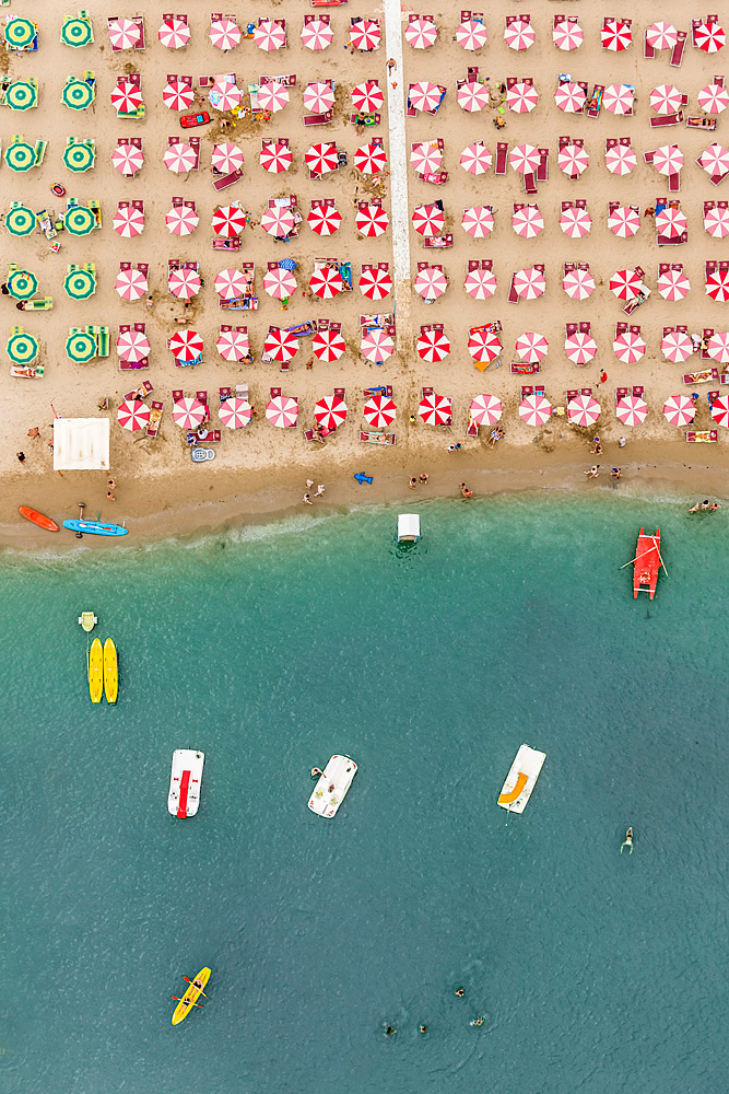 Colorful Aerial Photos of Italian Beach Resorts by Bernhard Lang