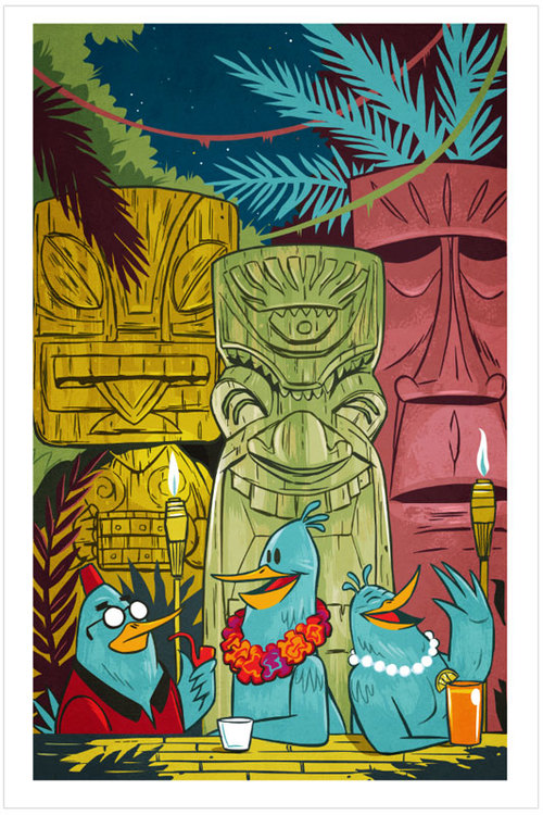 Aloha Tiki Birds by Josh Ellingson