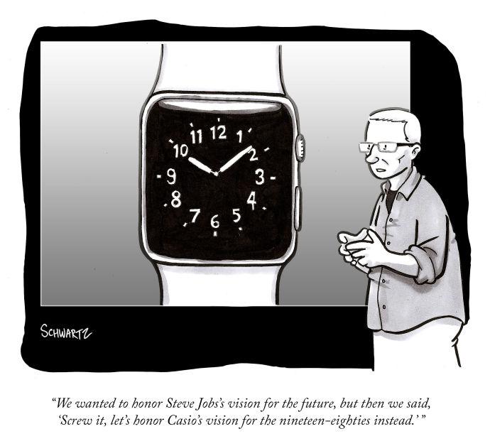 Apple Watch Cartoon