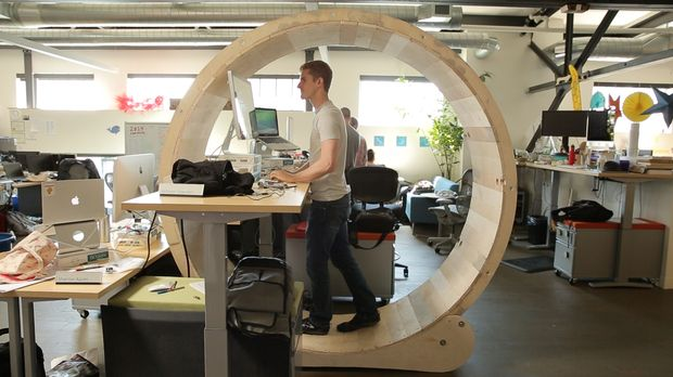 How to Build a Treadmill Standing Desk Shaped Like a Giant Hamster