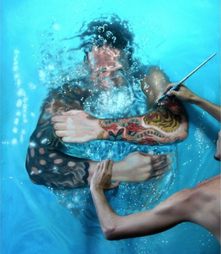 Artist Poses Creatively With His Own Hyperrealistc Paintings