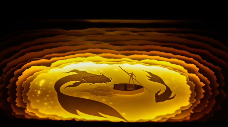 Backlit Cut Paper Sculptures by Hari & Deepti