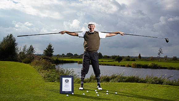 Karsten Maas with World's Longest Golf Club