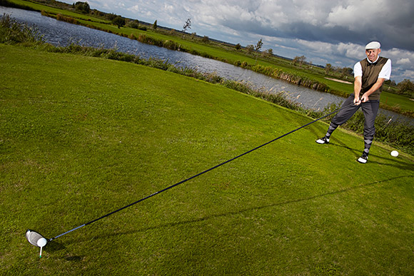 Karsten Maas with World's Longest Golf Club