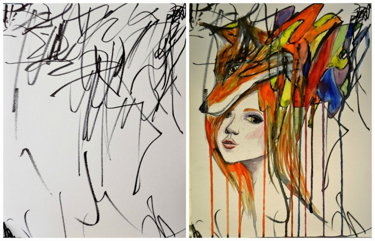 Artist Turns Daughter's Drawings Into Paintings