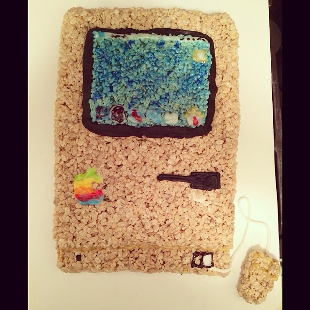 Early Mac computer made of Rice Krispies