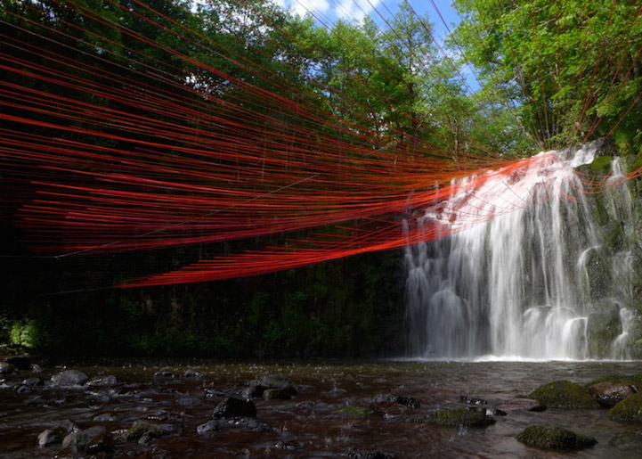 Dripping Waterfall Installation by Pier Fabre