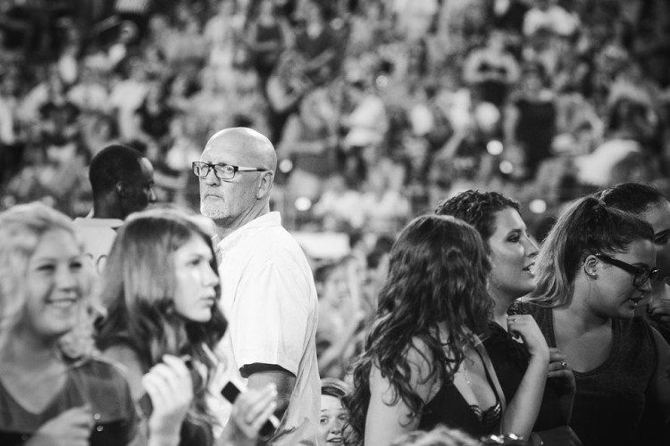 Sad Dad at a One Direction Concert