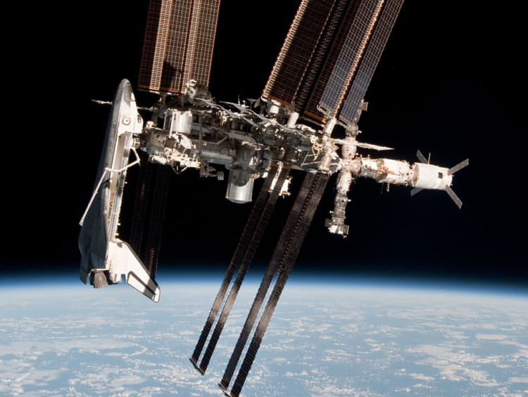 Space Station and Space Shuttle photographed together