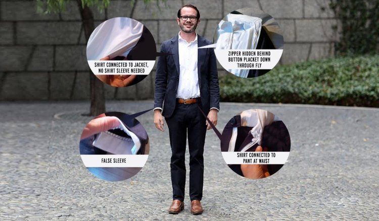Betabrand Suitsy Business-Suit Onesie