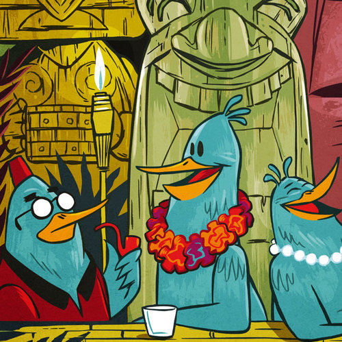 Three Tiki Birds