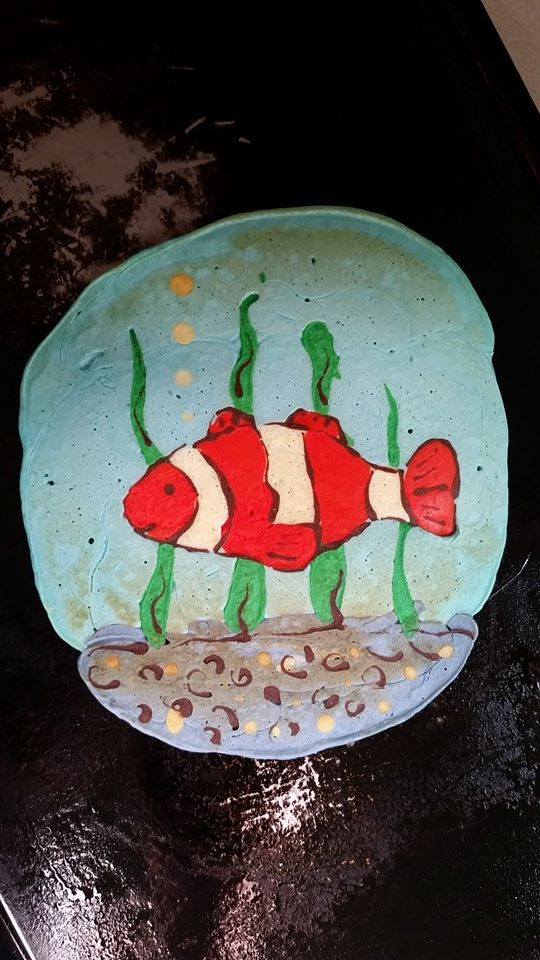 Creative Dad Makes Delightfully Colorful Pancake Art for His Kid